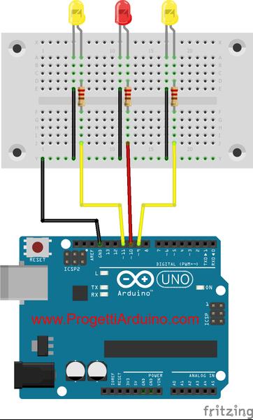 78 arduino led effetto fuoco o fiamma progetti arduino for Came zbx74 78 schema