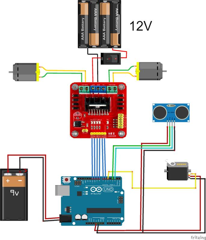 Arduino progetto robot car evita ostacoli modulo l n
