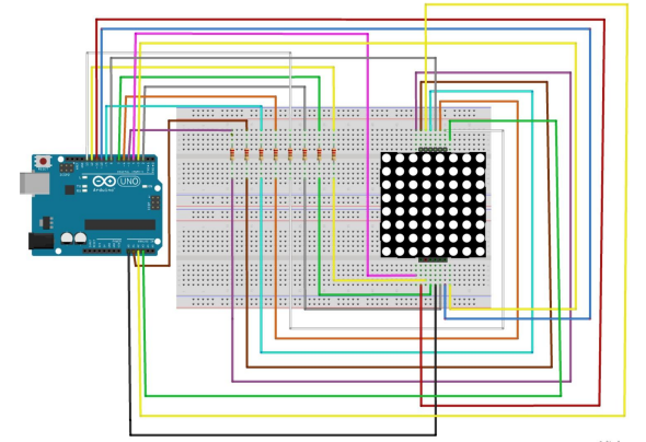 Arduino 8x8 matrix display